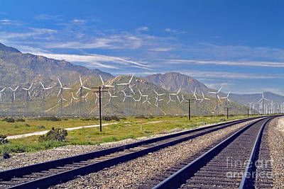 Photograph - Wind Turbines Green Energy Palm Springs San Gorgonio Pass by David Zanzinger