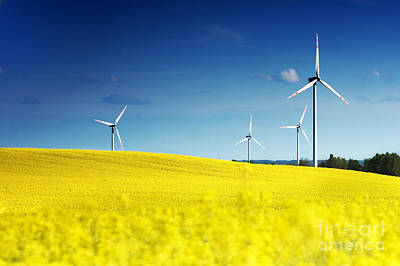 Backgrounds Photograph - Wind Turbines. by Michal Bednarek