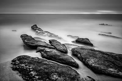 Long Exposure Photograph - Windansea Rocks II by Alexander Kunz