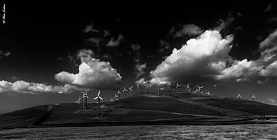 Windmill Electric Power Station Art Print
