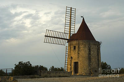 Photograph - Windmill In France by John Shaw
