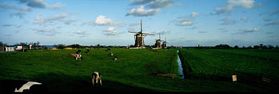 Dike Photograph - Windmills, Netherlands by Panoramic Images