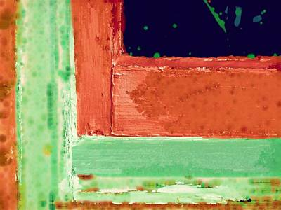 Window Frame Abstract Art Print