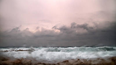 Window Sea Storm  Print by Stelios Kleanthous