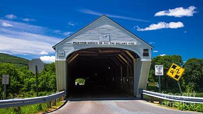 Photograph - Windsor - Cornish Covered Bridge.  by New England Photography