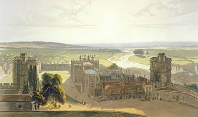 Windsor Castle, From A Compilation Art Print by William Daniell