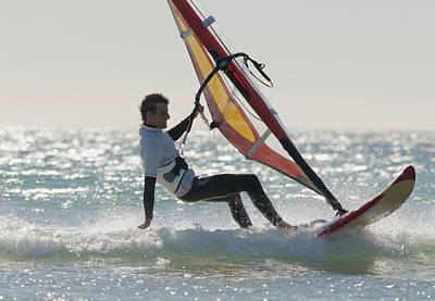Tarifa Photograph - Windsurfing Los Lances Beach Tarifa by Ben Welsh