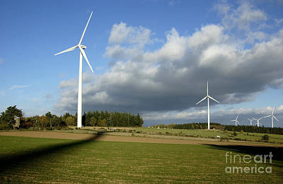 Ally Photograph - Windturbines by Bernard Jaubert
