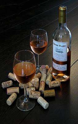 Wine And Corks Art Print