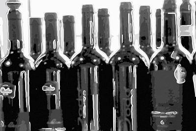 Wine Bottles Original by Tommytechno Sweden