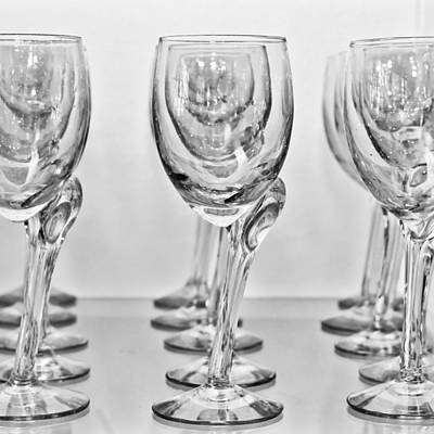 Champagne Photograph - Wine Glasses by Tom Gowanlock