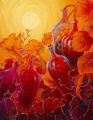 Painting - Wine On The Vine II by Sandi Whetzel