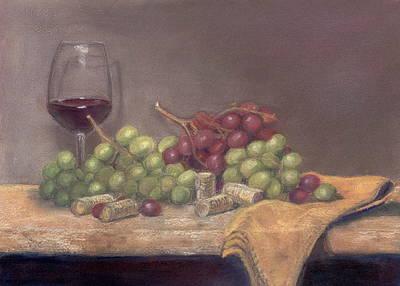 Wine Tasting Art Print by Ellen Minter