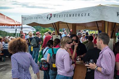 Wine Tour In Uhlbach Near Stuttgart - Germany Art Print by Frank Gaertner