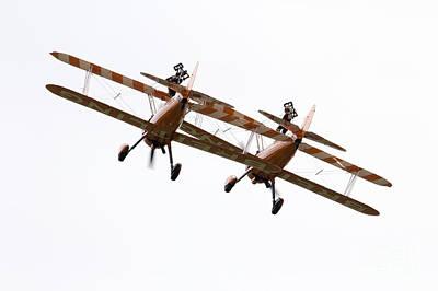 Aviation Photograph - Wing Walkers by J Biggadike