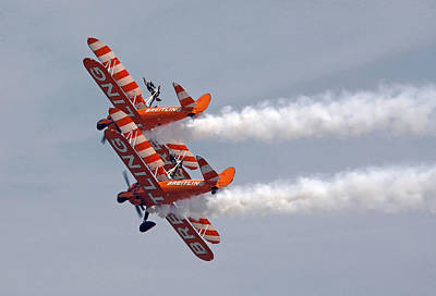 Photograph - Wing Walkers  by Steve Ball
