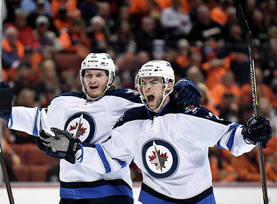 Photograph - Winnipeg Jets V Anaheim Ducks - Game One by Harry How