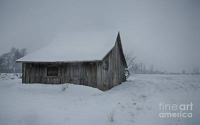 Photograph - Winter Barn by Idaho Scenic Images Linda Lantzy