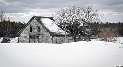 Maine Meadow Photograph - Winter Burden by Richard Bean