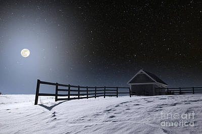 Photograph - Winter Full Moon by Larry Landolfi