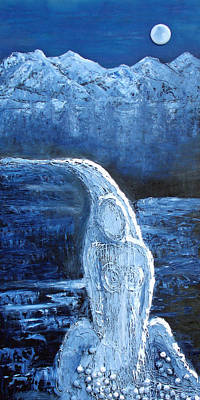 Winter Goddess Art Print by Angela Stout