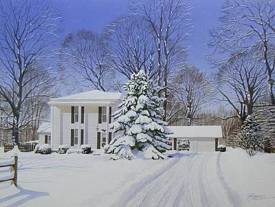 Painting - Winter Home by C Robert Follett