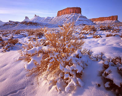 Photograph - Winter In Castle Valley by Ray Mathis