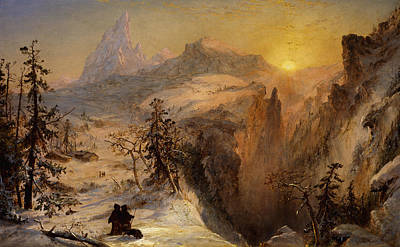 Jasper Francis Cropsey Painting - Winter In Switzerland by Jasper Francis Cropsey