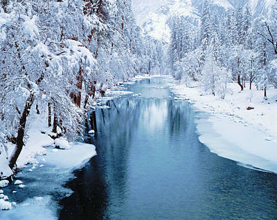 Photograph - Winter In Yosemite National Park by Ron thomas