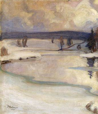 Pekka Wall Art - Painting - Winter Landscape by Celestial Images