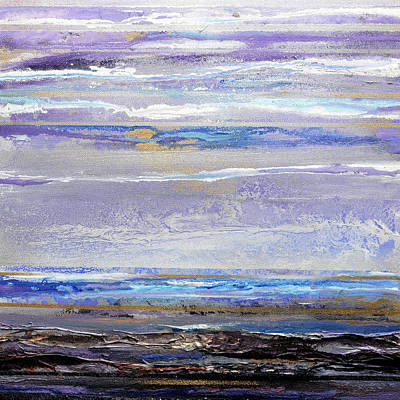 Mixed Media - Winter Light Hauxley Haven by Mike   Bell