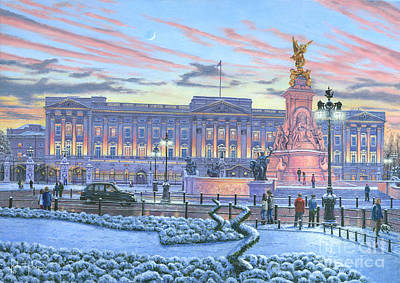 Buckingham Palace Painting - Winter Lights Buckingham Palace by Richard Harpum