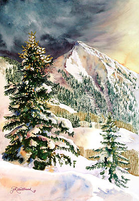 Colorado Ski Art Wall Art - Painting - Winter Morning Prism by Jill Westbrook