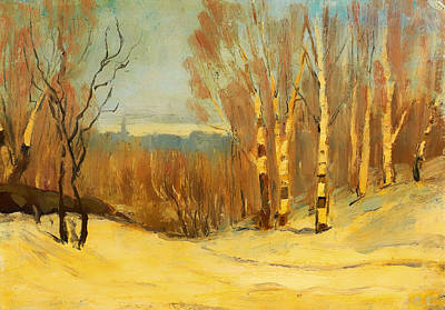 Montreal Painting - Winter Near Montreal by Mountain Dreams