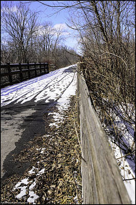 Exercise Photograph - Winter On Macomb Orchard Trail by LeeAnn McLaneGoetz McLaneGoetzStudioLLCcom