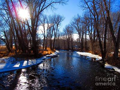 Blackfoot River Photograph - Winter Recedes From The Little Blackfoot River by Matthew Peek
