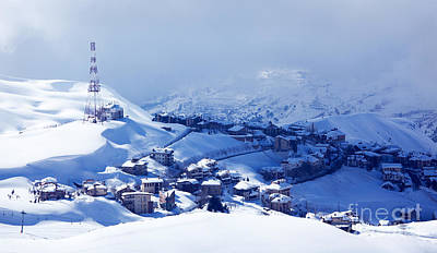 Christmas Holiday Scenery Photograph - Winter Resort by Anna Om