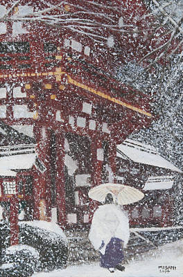 Painting - Winter Scene From Japan by Masami Iida