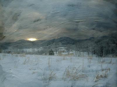Winter Scene  Art Print by Kathy Jennings