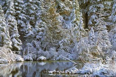Winter Scene Art Print by Pat Now