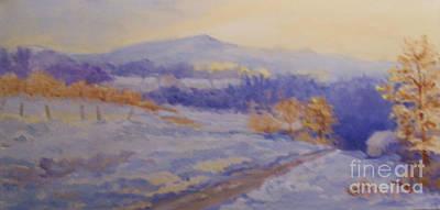 Mt. Monadnock Painting - Winter Skies by Alicia Drakiotes