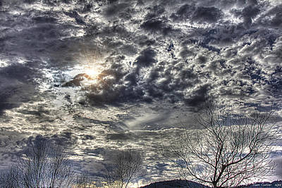 Photograph - Winter Sky by Tom Culver
