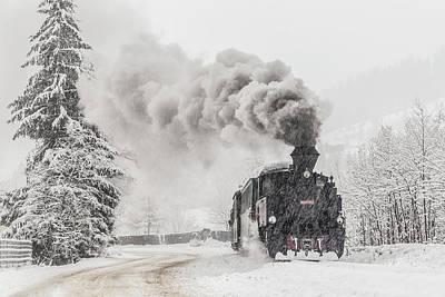 Steam Engines Wall Art - Photograph - Winter Story by Sveduneac Dorin Lucian