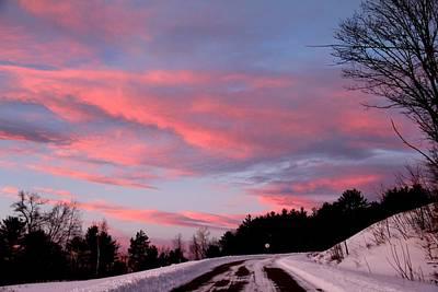 Photograph - Winter Sunset by Charlene Reinauer