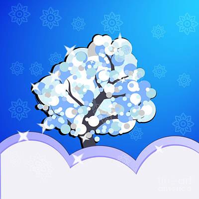Digital Art - Winter Tree by Martin Capek