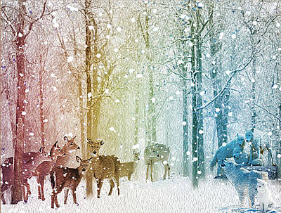Digital Art - Winter Truce by Michael Pittas