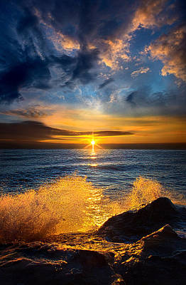 Fall Leaves Photograph - Winter Waves by Phil Koch