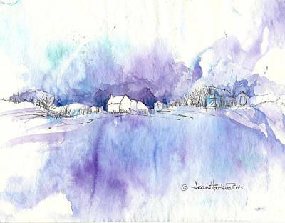 Winter White Art Print by Joan Hartenstein
