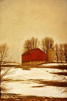 Wisconsin Barn In Winter Print by Jill Battaglia