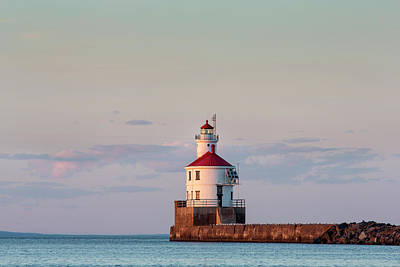 Lake Superior Lighthouse Photograph - Wisconsin Point Lighthouse by Chuck Haney